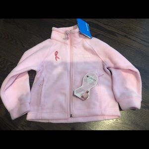 Columbia fleece jacket pink girls 4t NWT